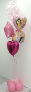 Decoración globos princesas