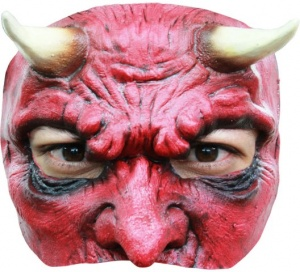 Antifaz half mask Devil