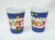 Vasos de happy birthday